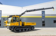 Bergmann 4010 tracked flatbed with HIAB