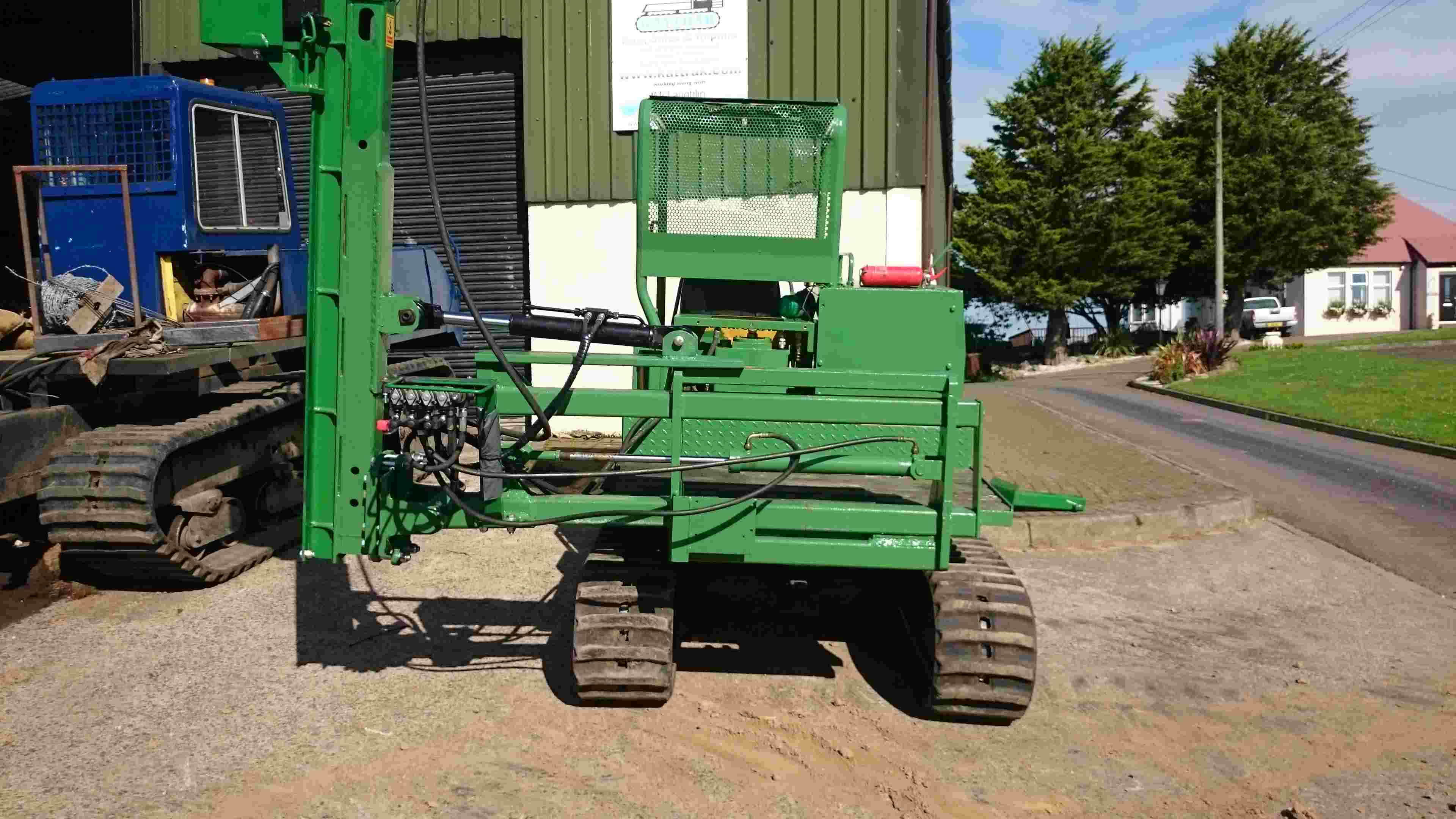 tracked post driver