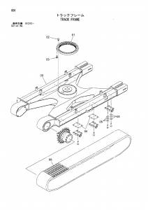 Hitachi EG110R Rubber Track