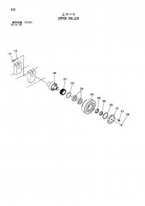 Hitachi EG110R Top Roller