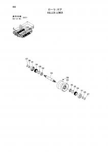 Hitachi EG30 bottom roller