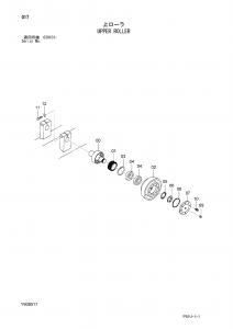 Hitachi EG70R-3 top roller