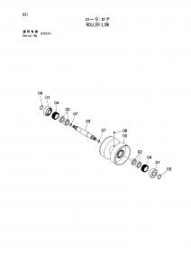 Hitachi EG70R bottom roller